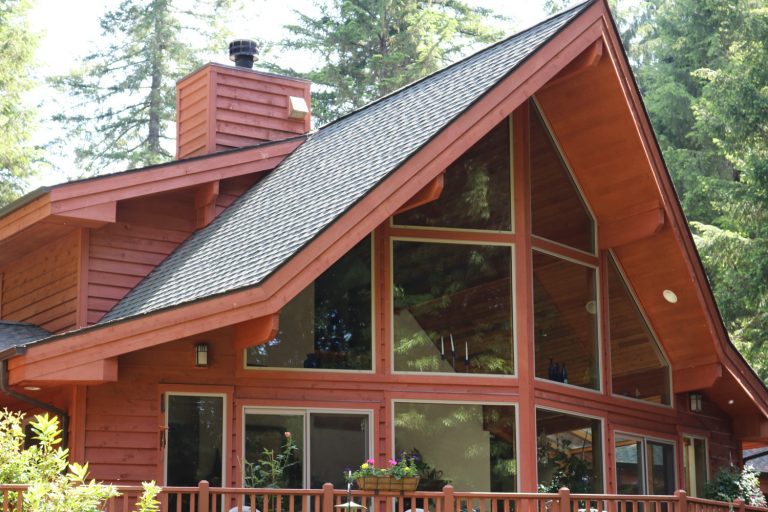 Cedar home stained oil modified sealer